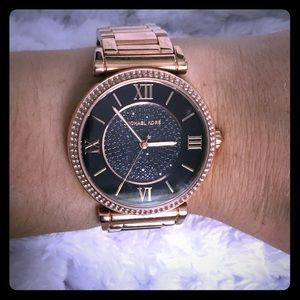 Rose gold Michael lots watch authentic